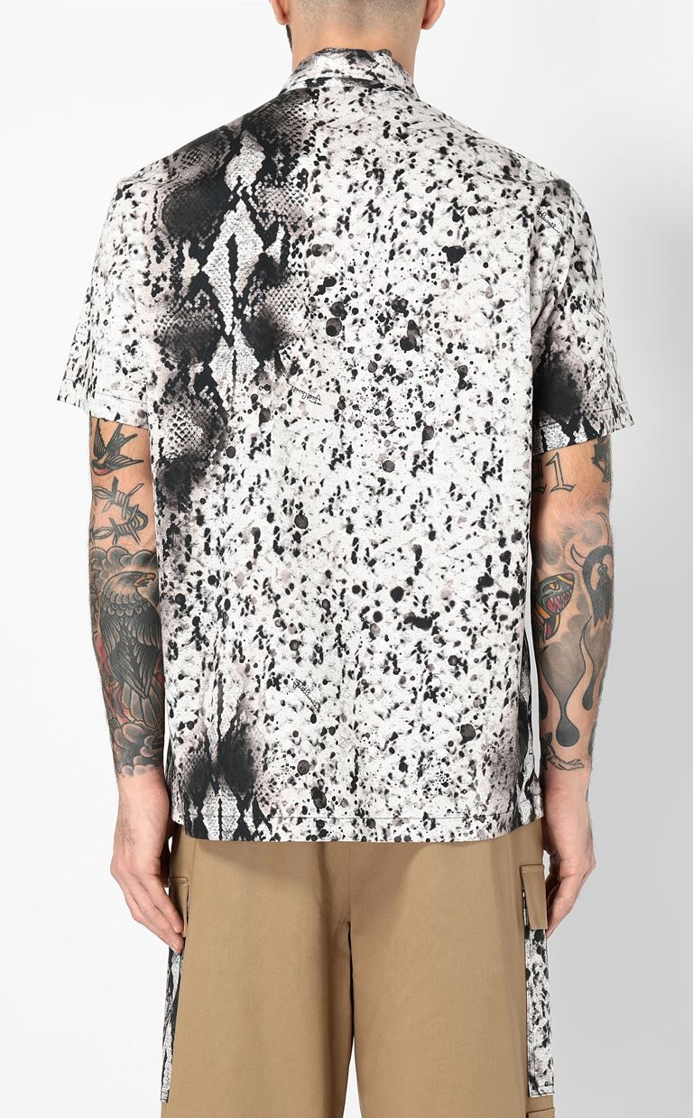 JUST CAVALLI Python-print shirt Short sleeve shirt Man a