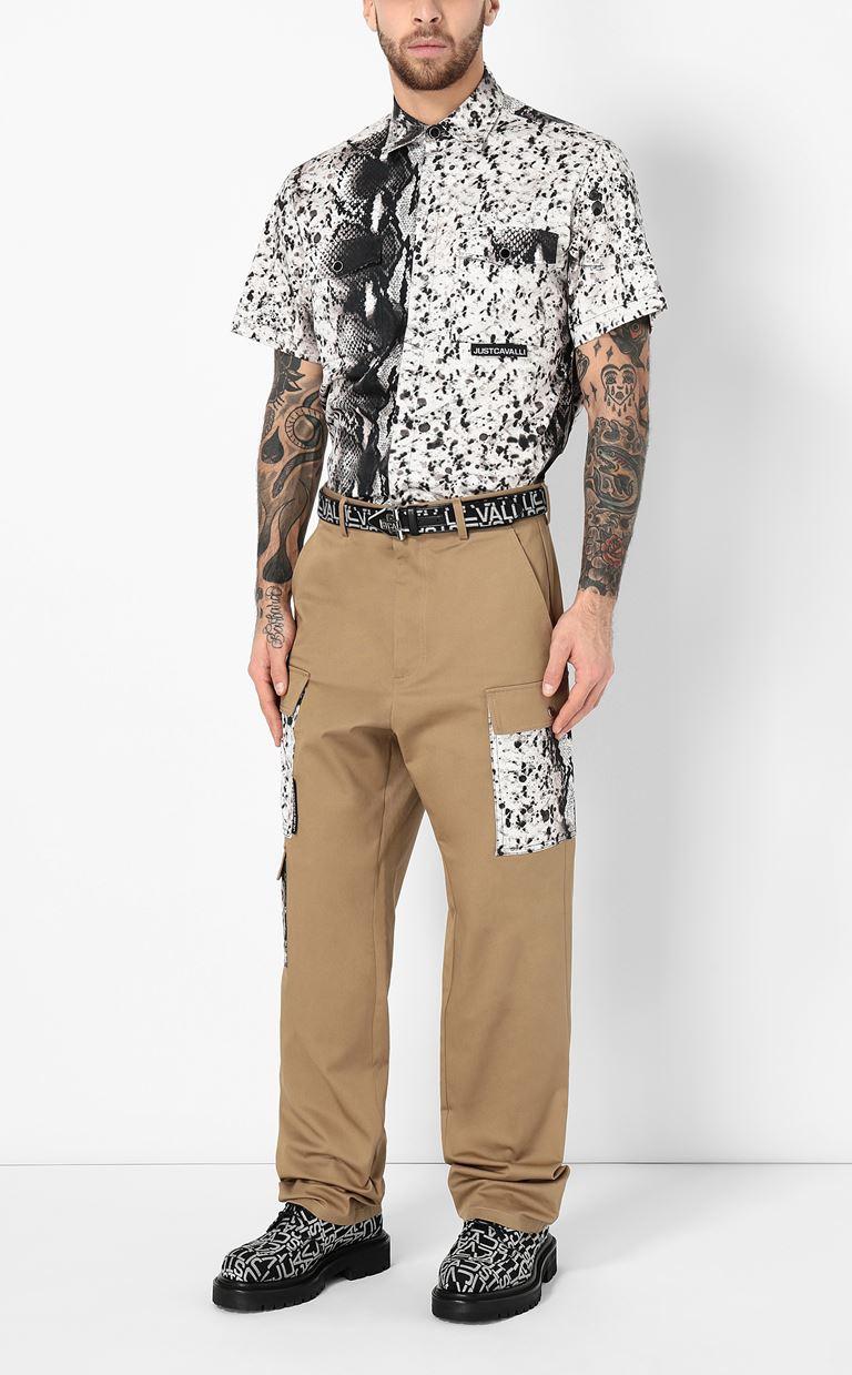 JUST CAVALLI Python-print shirt Short sleeve shirt Man d