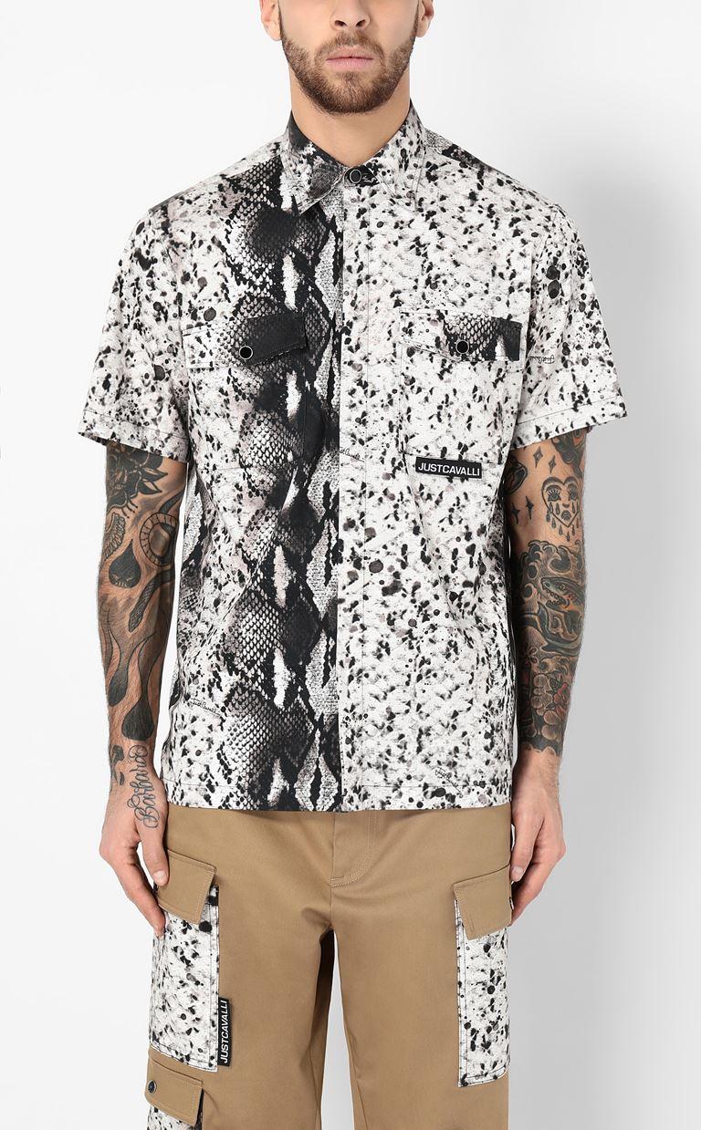 JUST CAVALLI Python-print shirt Short sleeve shirt Man r