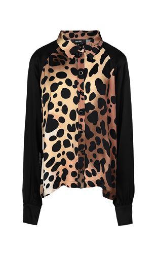 JUST CAVALLI Top Donna Top con dettagli leopardati f