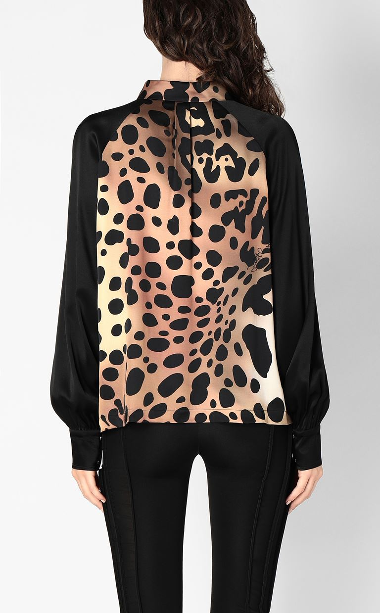 JUST CAVALLI Shirt with leopard spots Long sleeve shirt Woman a