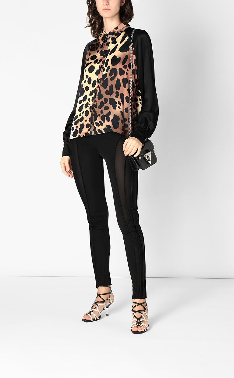JUST CAVALLI Shirt with leopard spots Long sleeve shirt Woman d