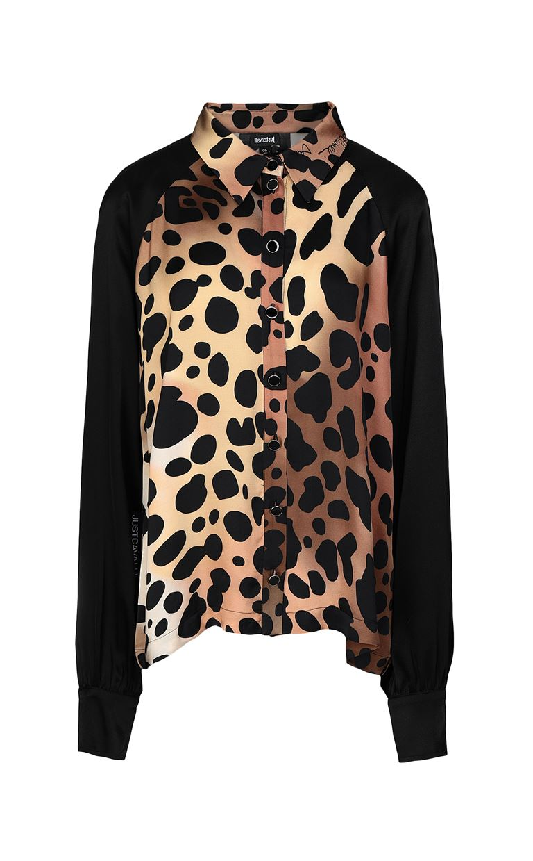 JUST CAVALLI Shirt with leopard spots Long sleeve shirt Woman f