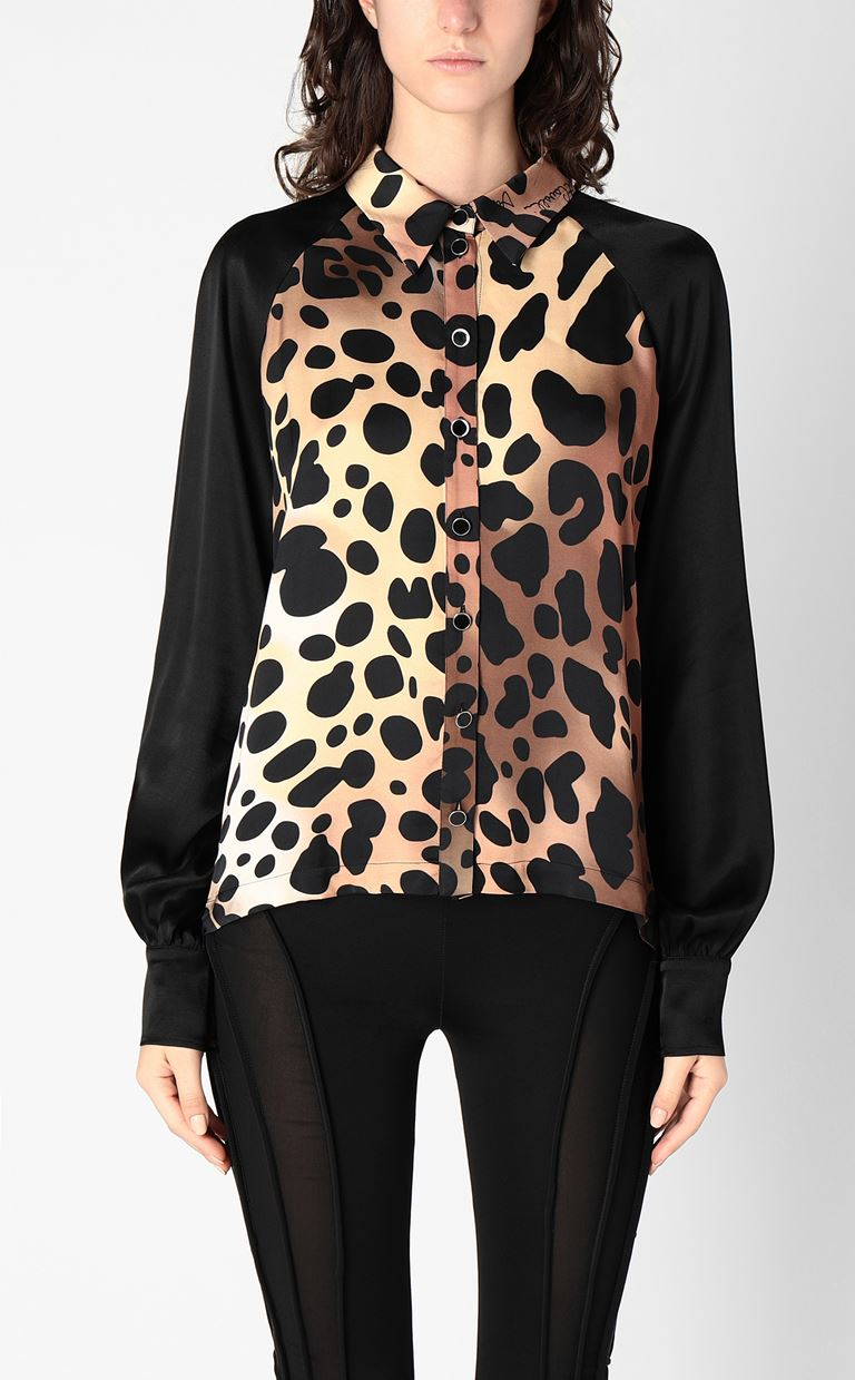 JUST CAVALLI Shirt with leopard spots Long sleeve shirt Woman r