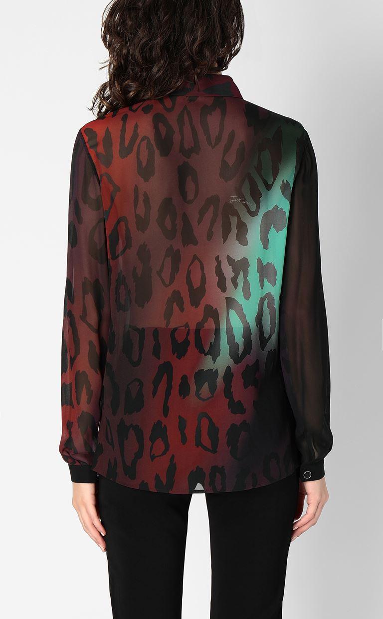 JUST CAVALLI Shirt with leopard spots Long sleeve shirt Woman a