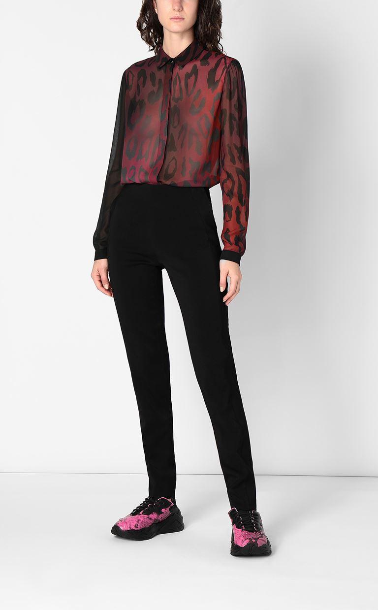 JUST CAVALLI Shirt with leopard spots Long sleeve shirt Woman d