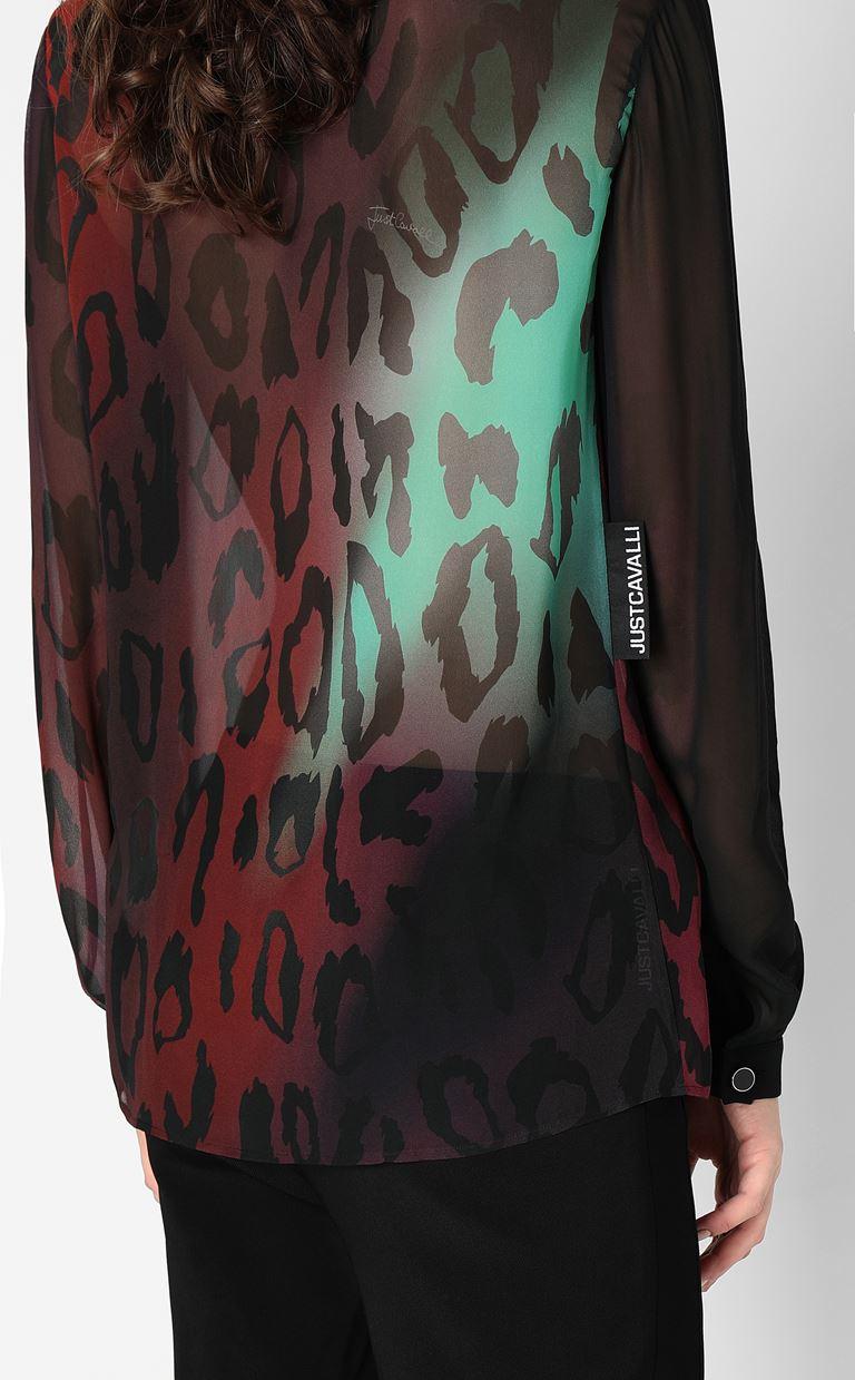 JUST CAVALLI Shirt with leopard spots Long sleeve shirt Woman e