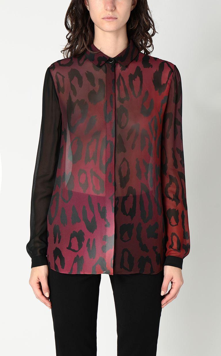 JUST CAVALLI Shirt with leopard spots Long sleeve shirt Woman r