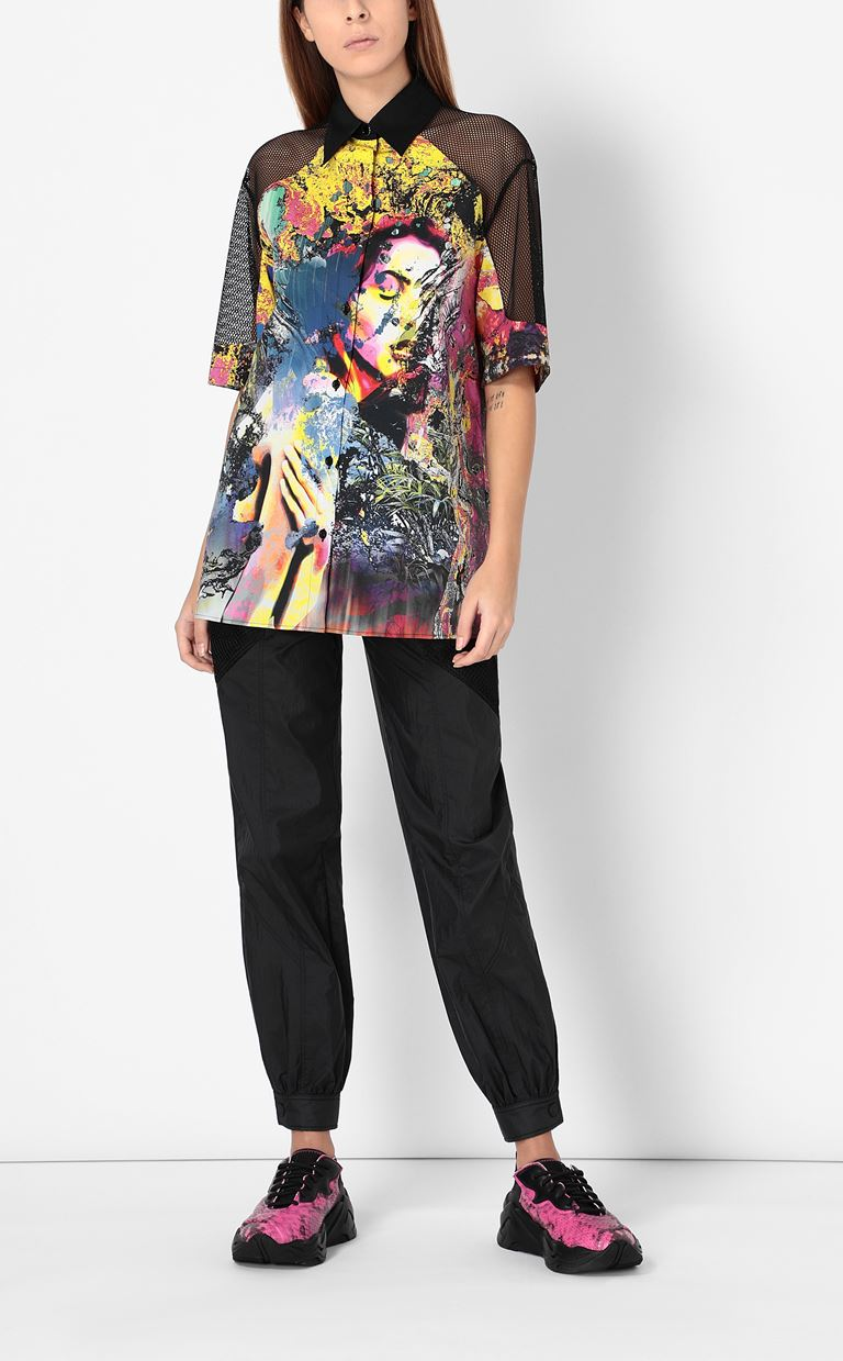 JUST CAVALLI Shirt with print design Short sleeve shirt Woman d