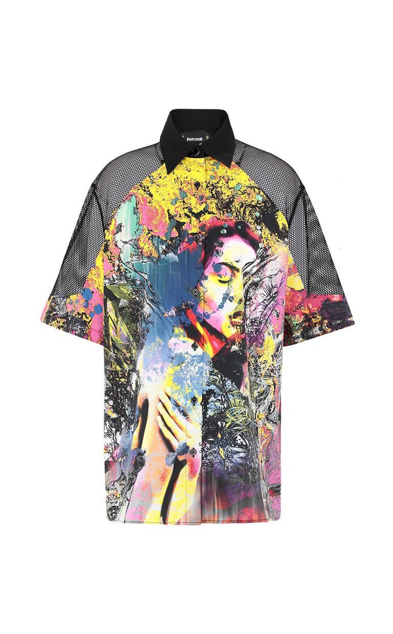 JUST CAVALLI Shirt with print design Short sleeve shirt Woman f