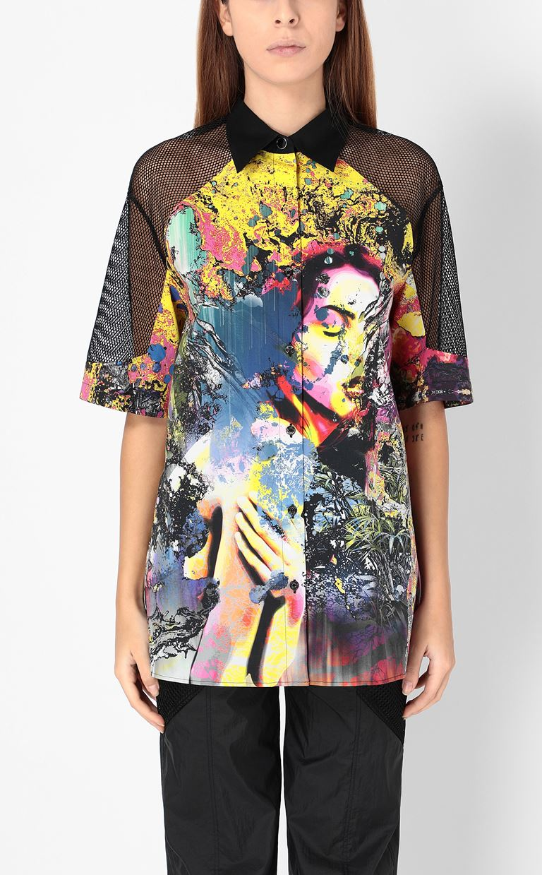 JUST CAVALLI Shirt with print design Short sleeve shirt Woman r