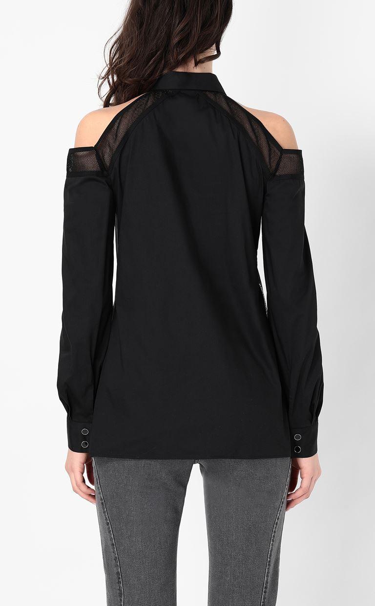 JUST CAVALLI Sateen shirt Long sleeve shirt Woman a