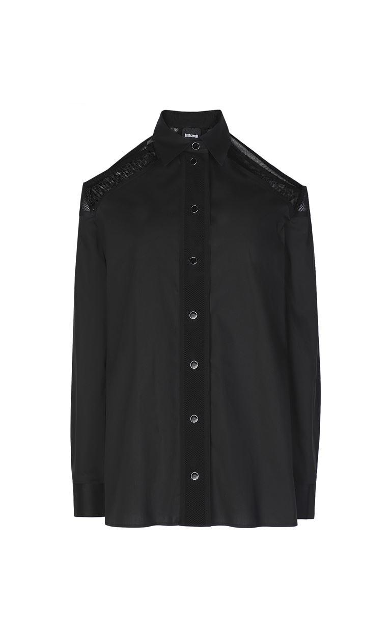 JUST CAVALLI Sateen shirt Long sleeve shirt Woman f