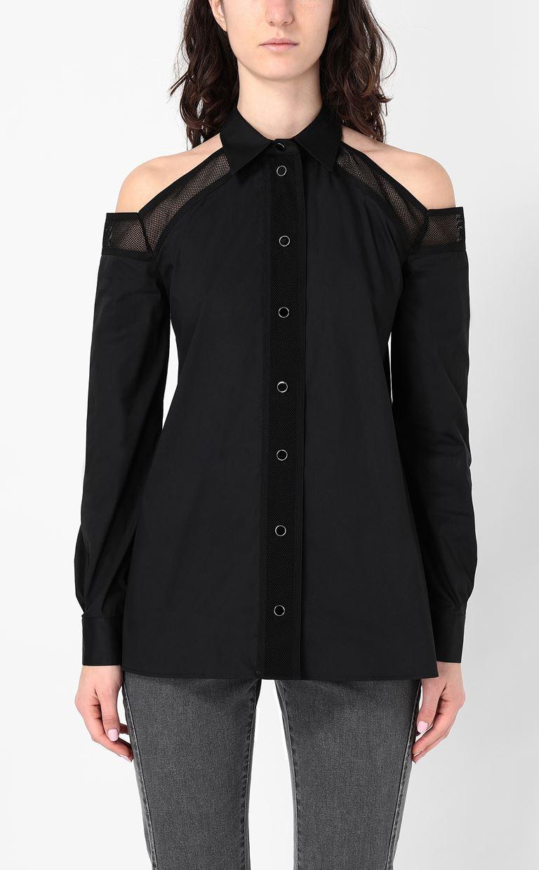 JUST CAVALLI Sateen shirt Long sleeve shirt Woman r