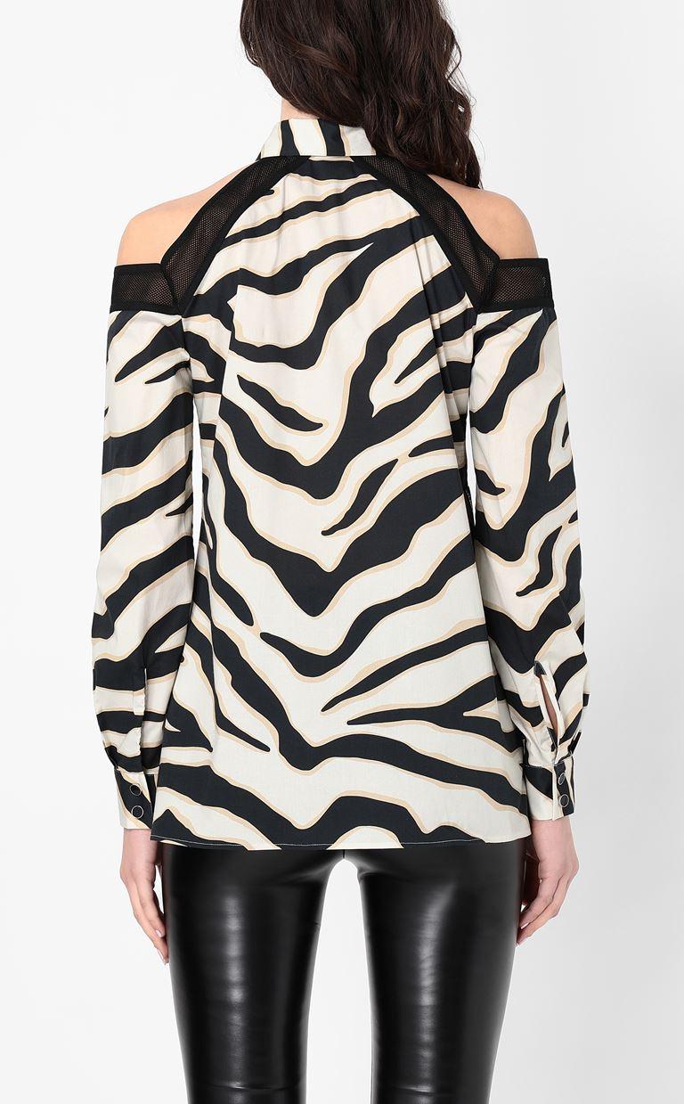 JUST CAVALLI Shirt with a zebra-stripe print Long sleeve shirt Woman a