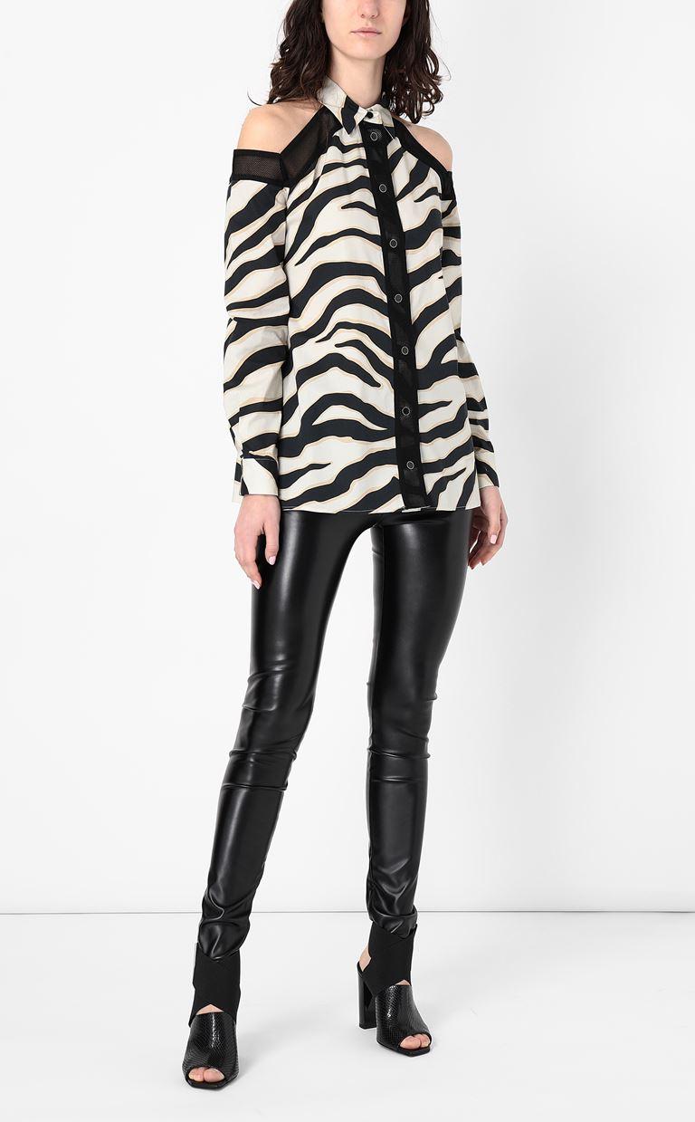 JUST CAVALLI Shirt with a zebra-stripe print Long sleeve shirt Woman d