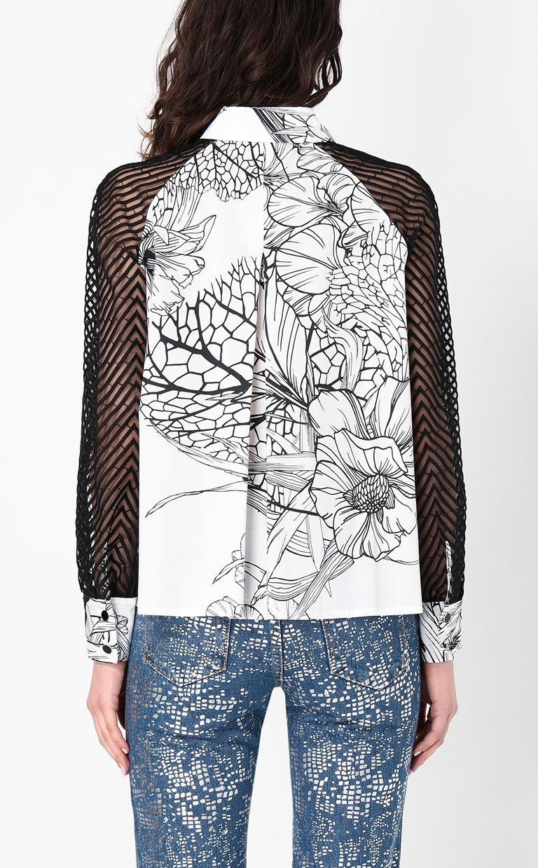 JUST CAVALLI Shirt with floral print design Long sleeve shirt Woman a