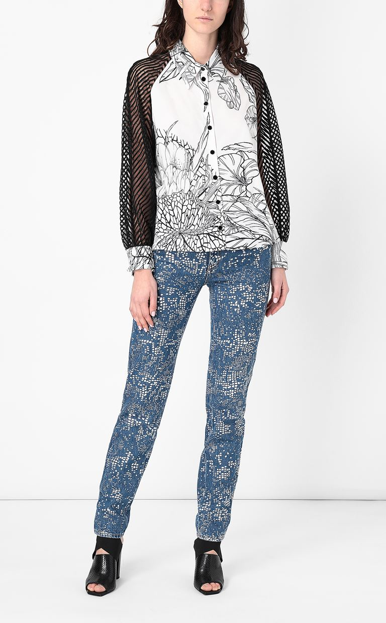 JUST CAVALLI Shirt with floral print design Long sleeve shirt Woman d