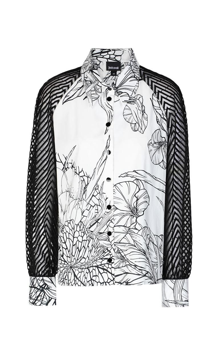 JUST CAVALLI Shirt with floral print design Long sleeve shirt Woman f