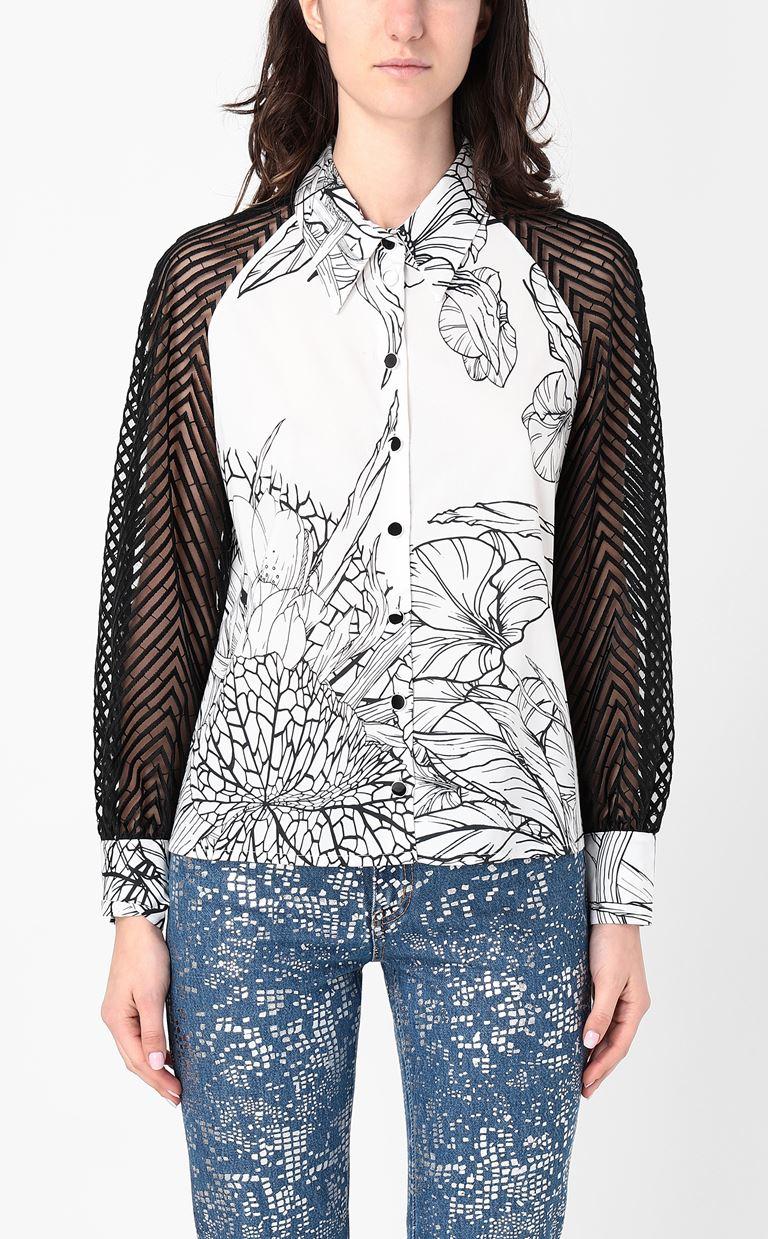 JUST CAVALLI Shirt with floral print design Long sleeve shirt Woman r