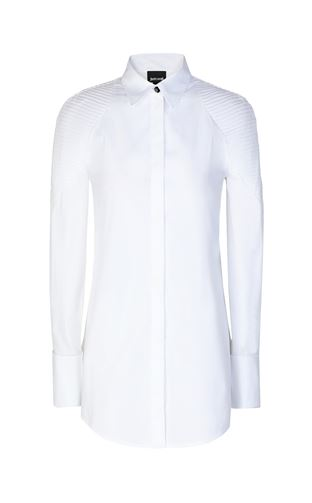 JUST CAVALLI Long sleeve shirt Woman Shirt with ribbed detailing f