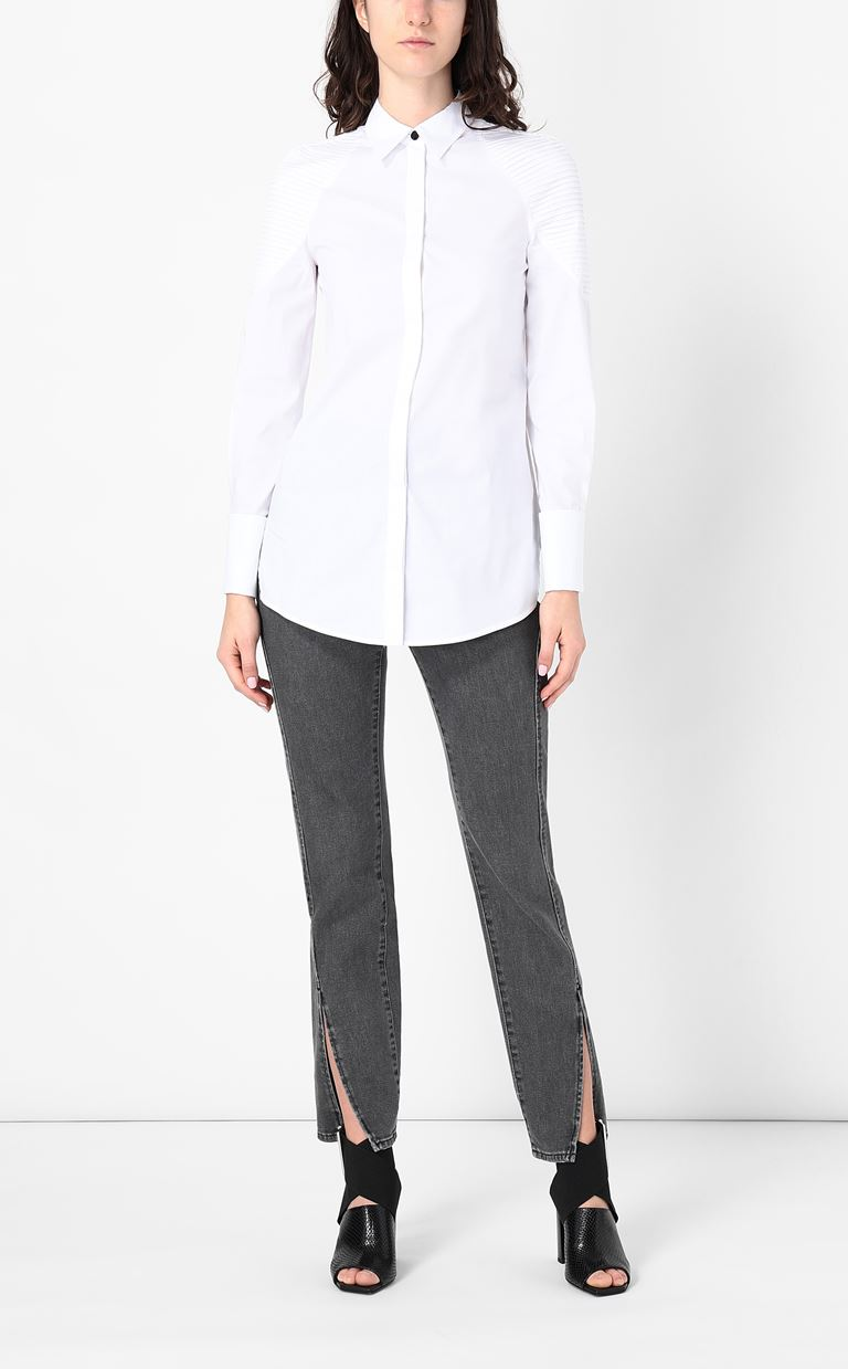 JUST CAVALLI Shirt with ribbed detailing Long sleeve shirt Woman d