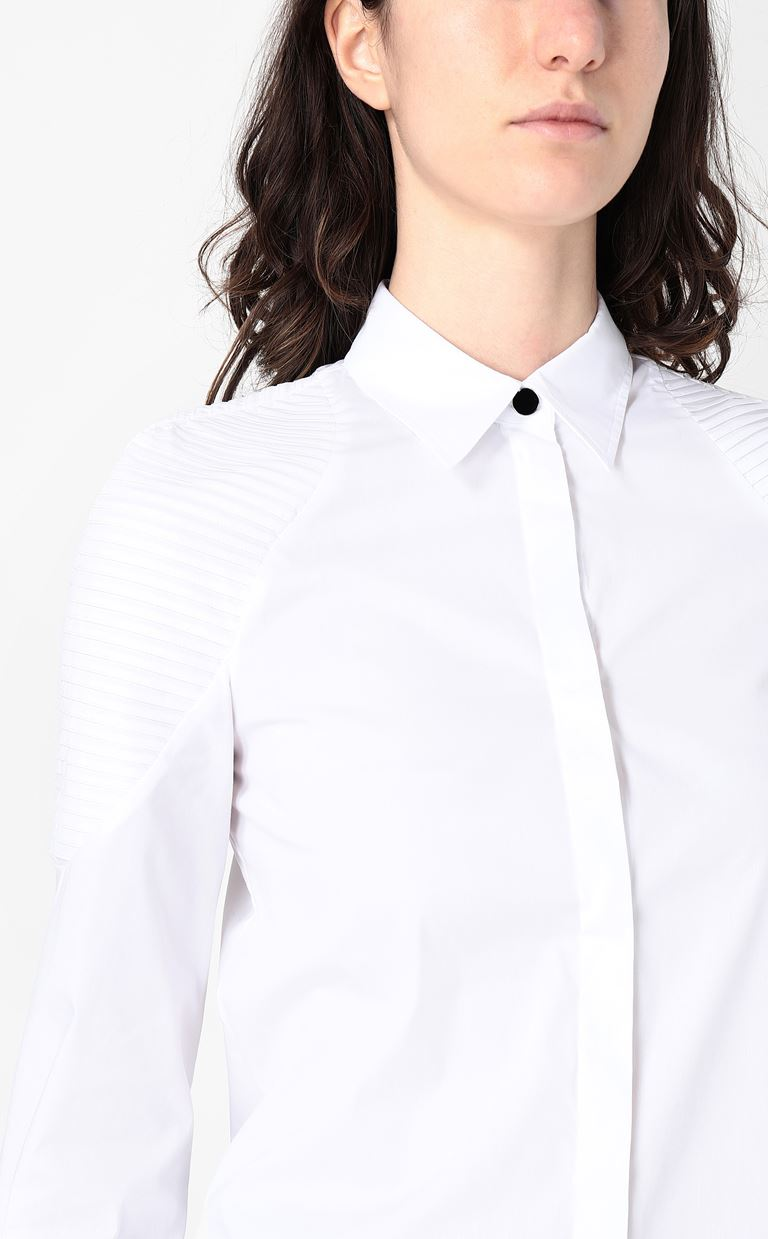 JUST CAVALLI Shirt with ribbed detailing Long sleeve shirt Woman e