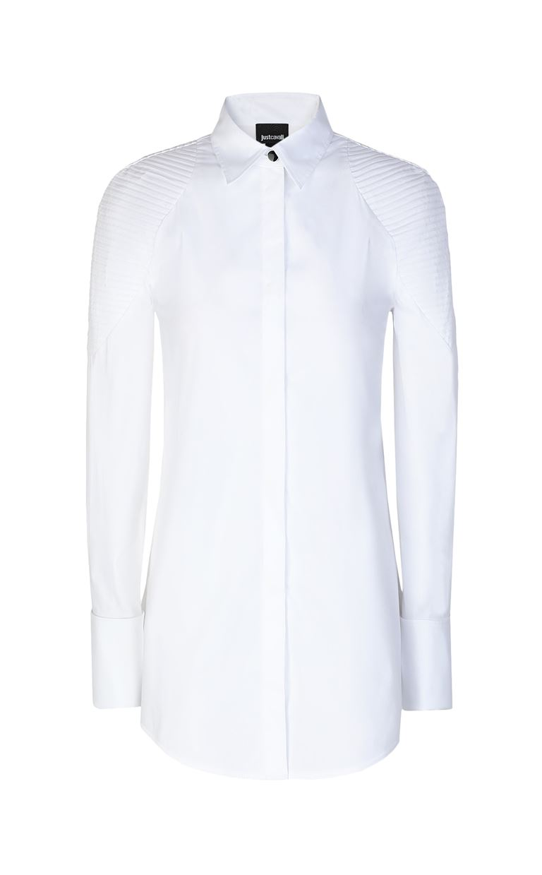 JUST CAVALLI Shirt with ribbed detailing Long sleeve shirt Woman f