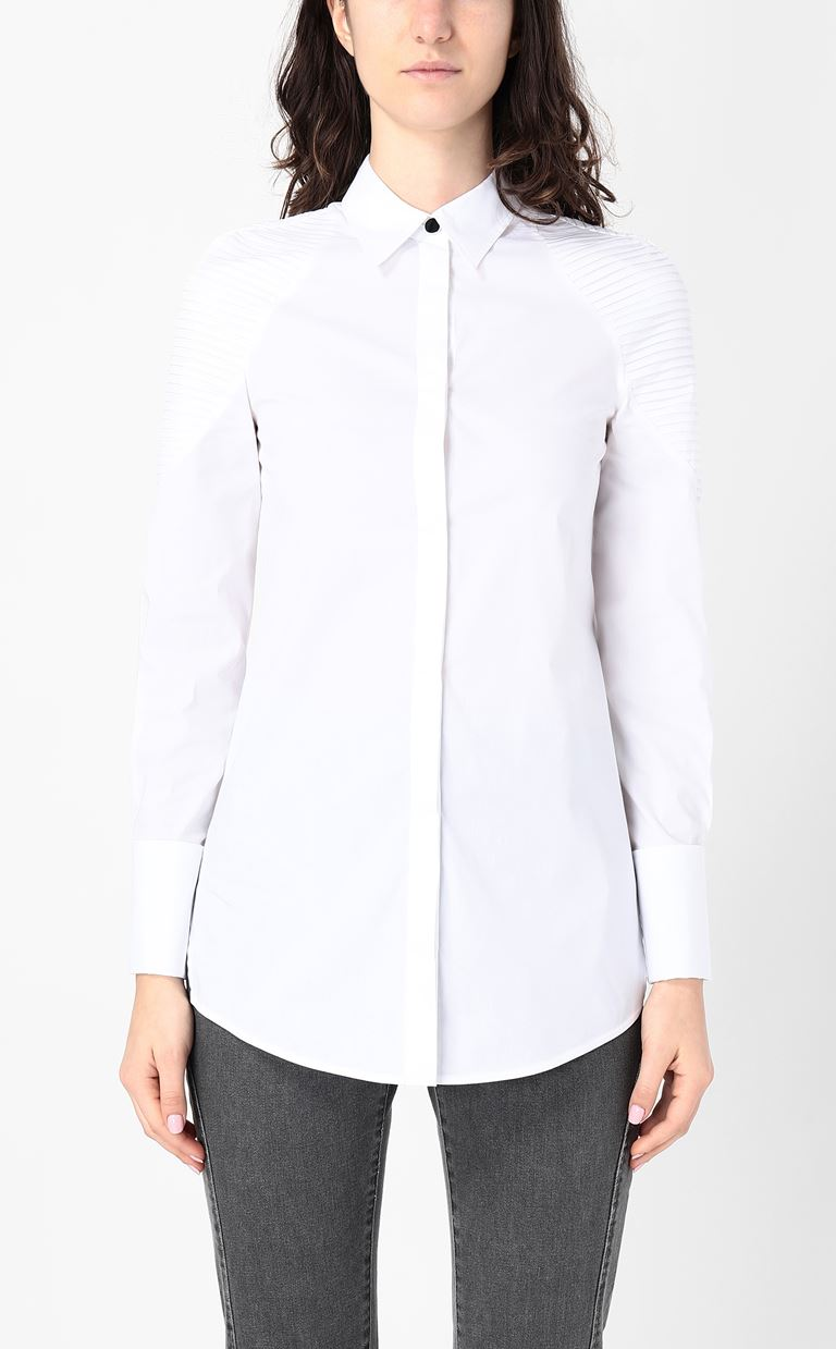 JUST CAVALLI Shirt with ribbed detailing Long sleeve shirt Woman r