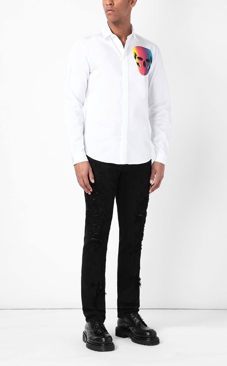 JUST CAVALLI Shirt with print design Long sleeve shirt Man d
