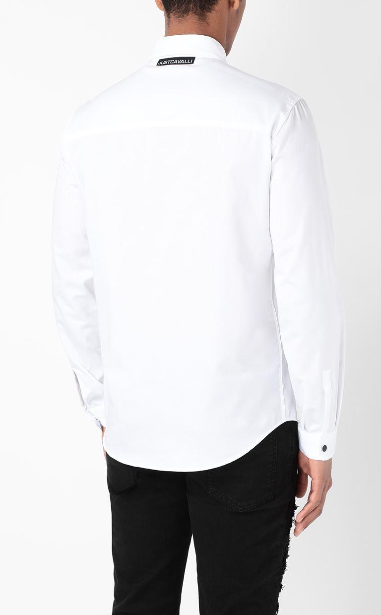 JUST CAVALLI Shirt with print design Long sleeve shirt Man e