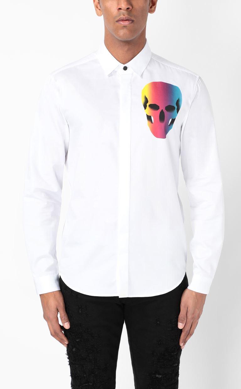 JUST CAVALLI Shirt with print design Long sleeve shirt Man r