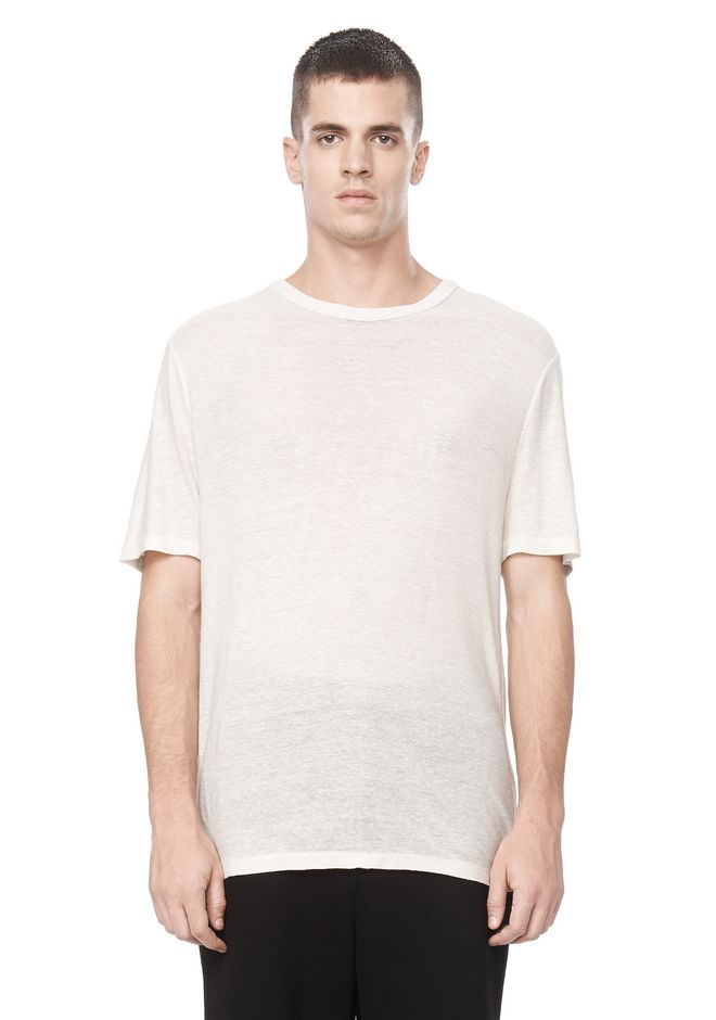 T by ALEXANDER WANG SLUB RAYON SILK CREWNECKTEE Short sleeve t-shirt Adult 12_n_e