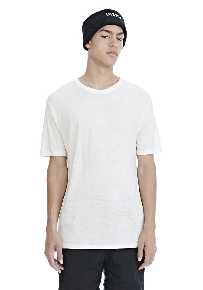T by ALEXANDER WANG SLUB RAYON SILK CREWNECKTEE Short sleeve t-shirt Adult 12_n_e