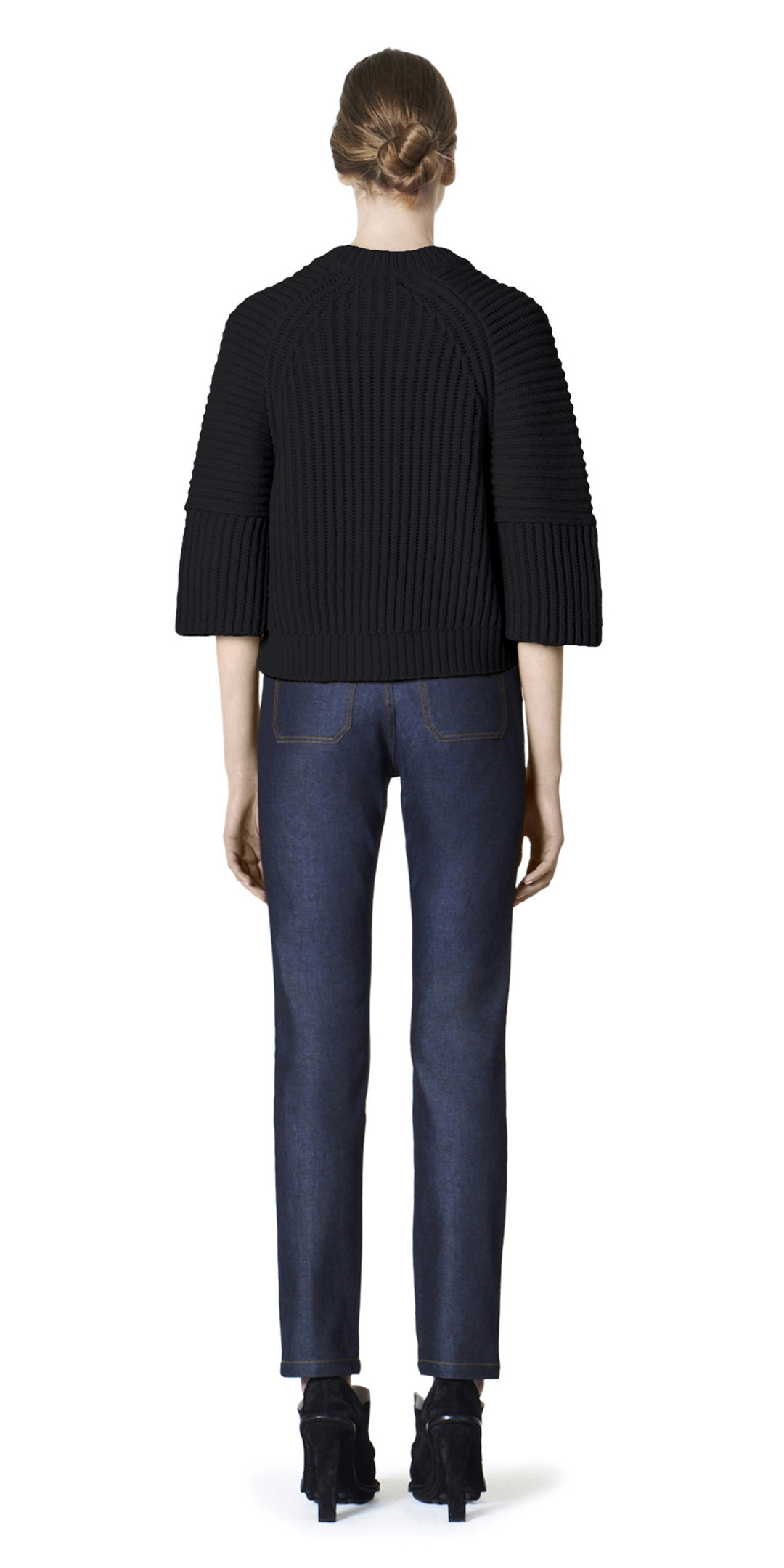 BALENCIAGA Knitwear D Balenciaga Alpaca Short Sweater i