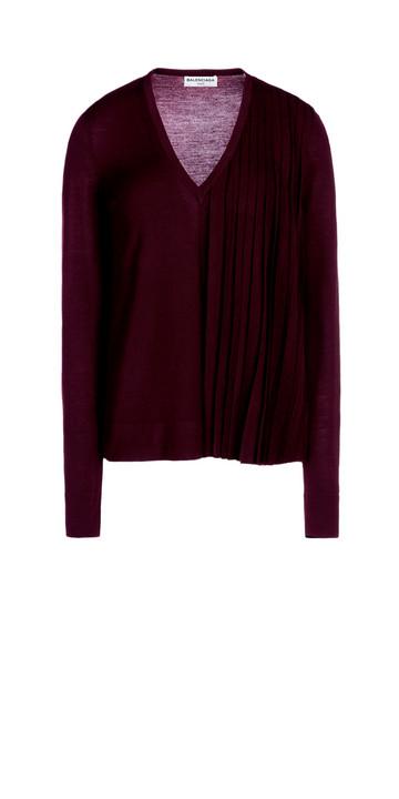 Balenciaga Pullover con Pieghe