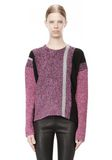 T by ALEXANDER WANG BOILED TWEED CREWNECK BAJA PULLOVER TOP Adult 8_n_e
