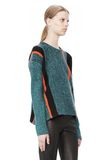 T by ALEXANDER WANG BOILED TWEED CREWNECK BAJA PULLOVER TOP Adult 8_n_a