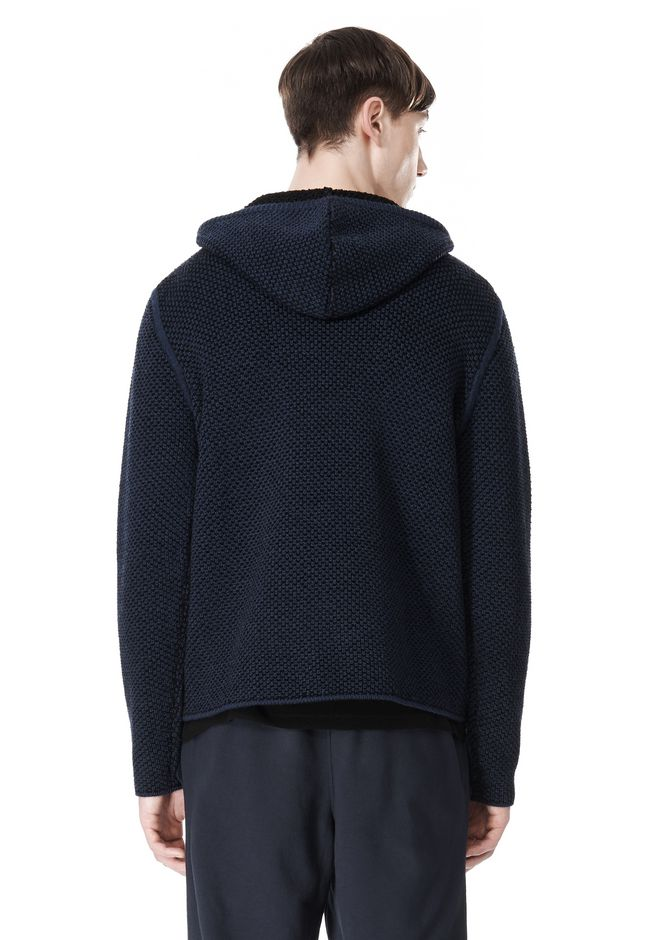 T by ALEXANDER WANG CHENILLE TUCK STITCH PULLOVER HOODIE TOP Adult 12_n_d