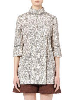 Marni Shirt in stretch georgette Gray Garden print Woman