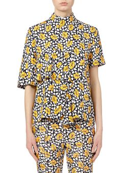 Marni Shirt in double cotton and silk Buttercup Woman