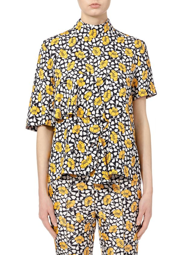 44ed9ae28eb Marni Shirt in double cotton and silk Buttercup print Woman - 1 ...