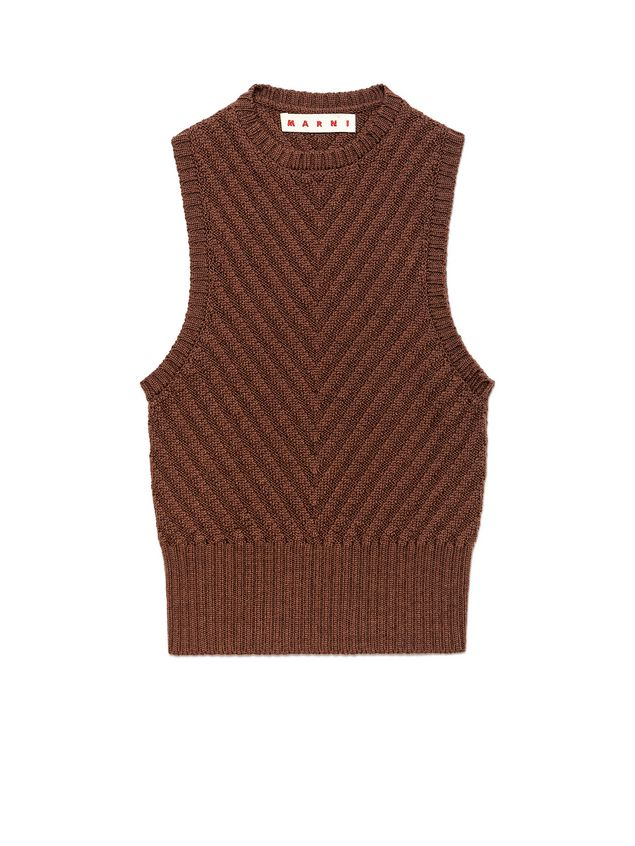 Knit In Virgin Wool With V Shaped Knitting Pattern From The Marni
