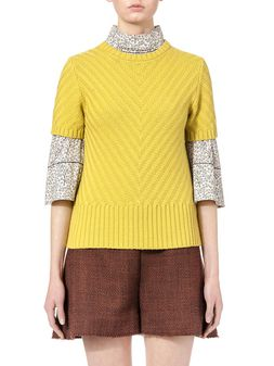 Marni Knit in virgin wool with V-shaped knitting pattern Woman