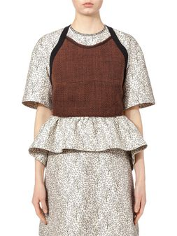 Marni Bustier top in bonded mouliné tweed Woman