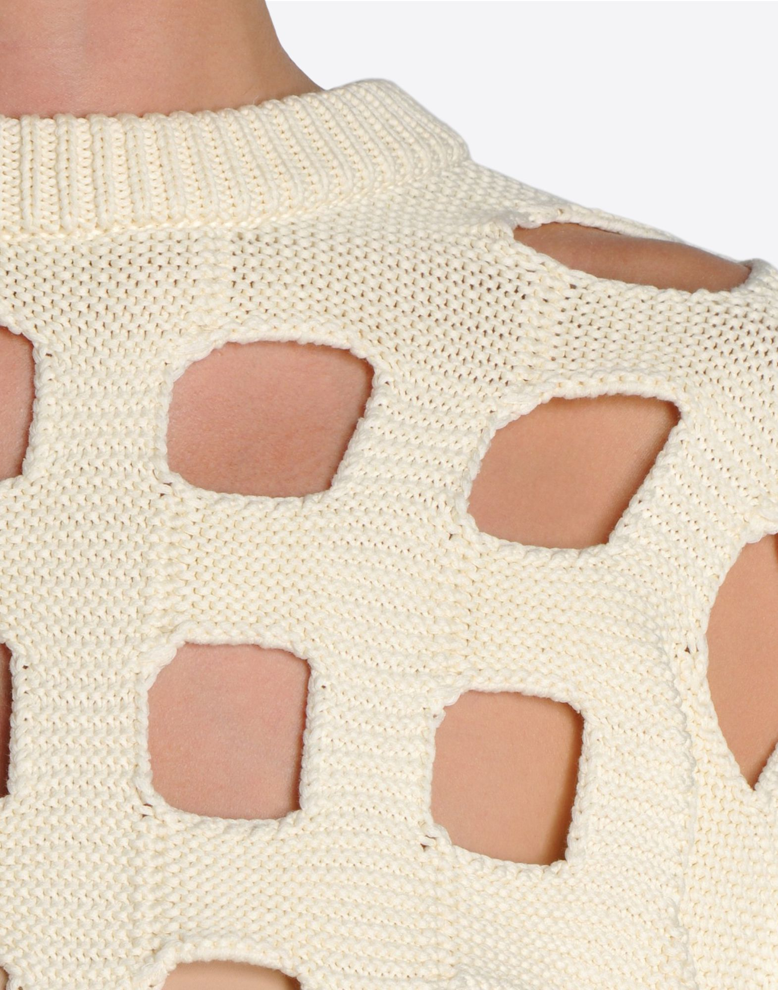 MAISON MARGIELA 1 Knit sweater with cut-out checks Long sleeve sweater Woman e