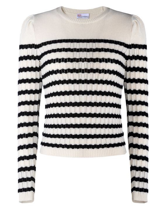 710cbf536 REDValentino Striped Cashmere Sweater - Knit Sweater for ...