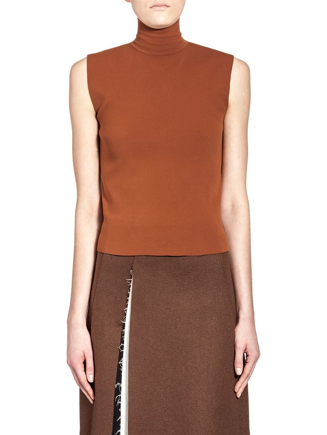 Marni Slim runway turtleneck in nylon Woman - 1