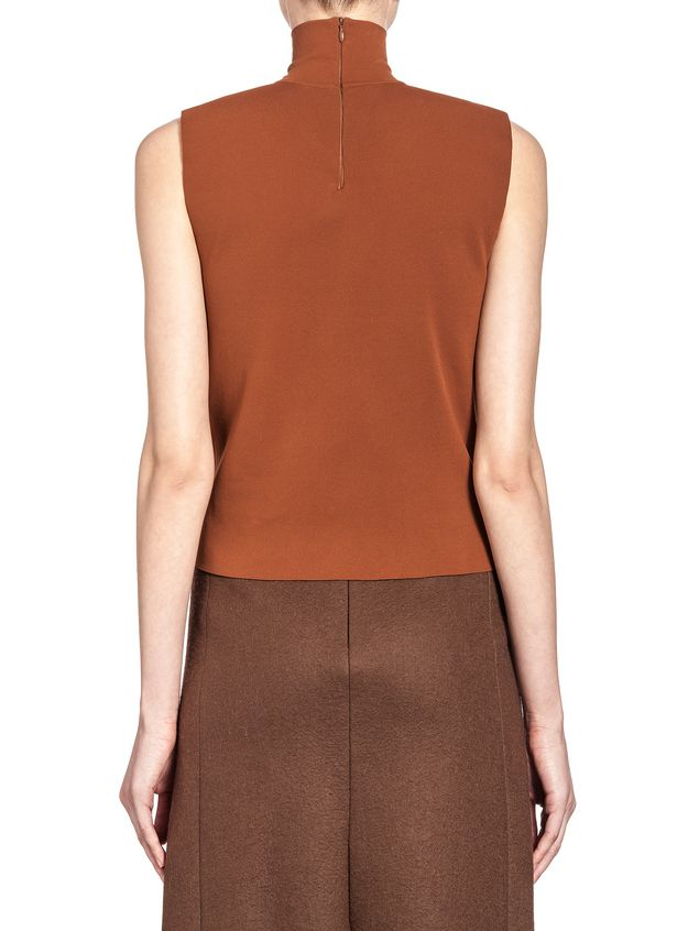 Marni Slim runway turtleneck in nylon Woman - 3