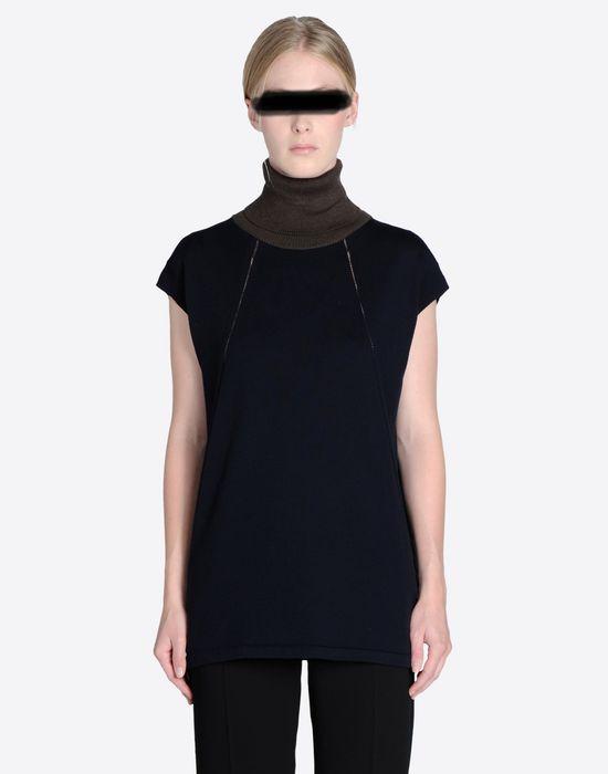 ae685a93d5c193 Maison Margiela Merino Wool Short Sleeve Turtleneck Women ...